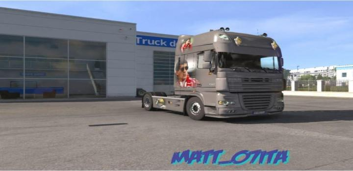 Photo of ETS2 – Senna Edition Daf Xf105 Metallic V1 (1.38.x)