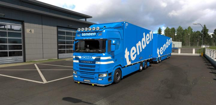 Photo of ETS2 – Tenden Scania S Tandem V1.1 (1.38.x)