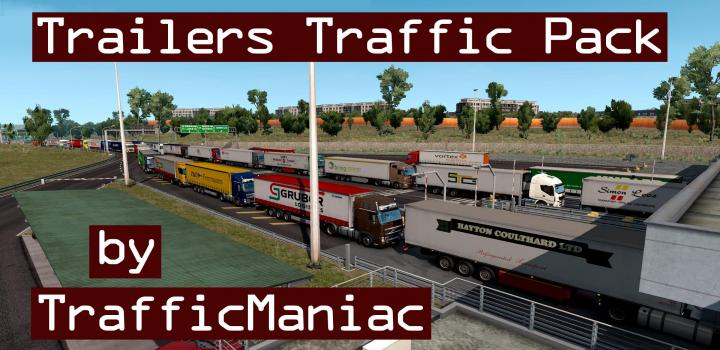 Photo of ETS2 – Trailers Traffic Pack V5.1 (1.38.x)