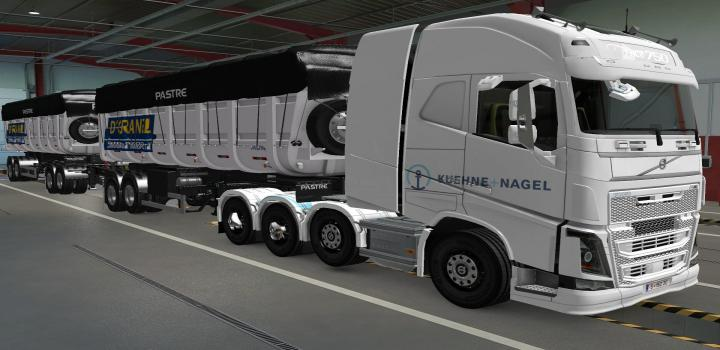 Photo of ETS2 – Volvo Fh16 2012 8X4 Kuehne + Nagel White Skin (1.38.x)