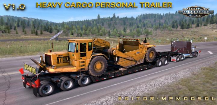 Photo of ATS – Heavy Cargo Personal Trailer Mod For Multiplayer V1 (1.38.x)