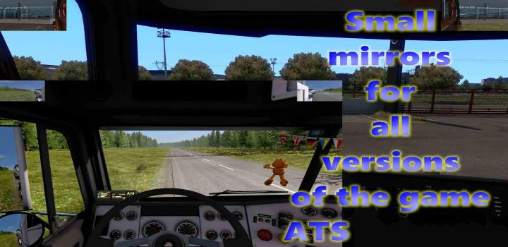Photo of ATS – Small Mirrors For All Versions V1 (1.38.x)