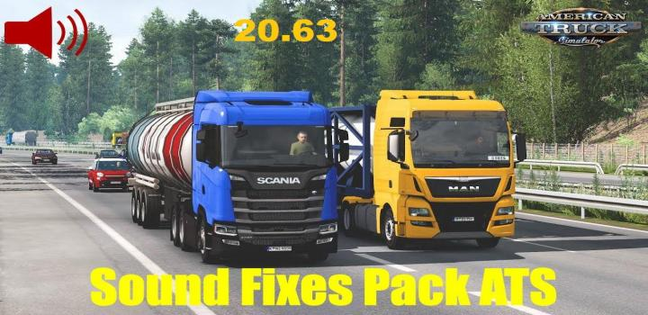 Photo of ATS – Sound Fixes Pack V20.63 (1.39.x)