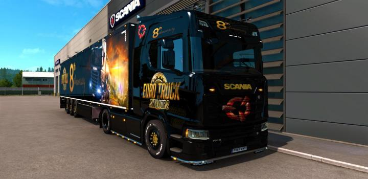 Photo of ETS2 – 8Th Anniversary Skin Combo V1 (1.38.x)