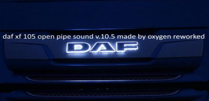 Photo of ETS2 – Daf Xf 105 Open Pipe Sound Reworked V10.5 (1.38.x)