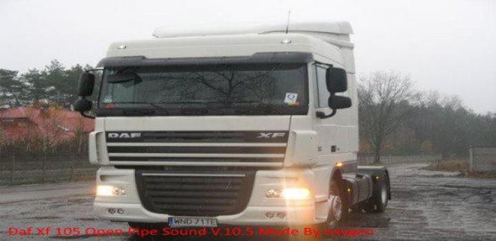 Photo of ETS2 – Daf Xf Open Pipe Sound V10.5 (1.39.x)