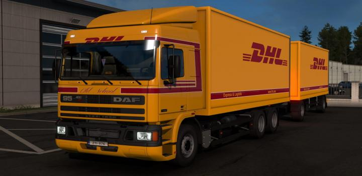 Photo of ETS2 – Dhl Skin For Daf 95 By Xbs By Kript Reworked V1.2 (1.38.x)