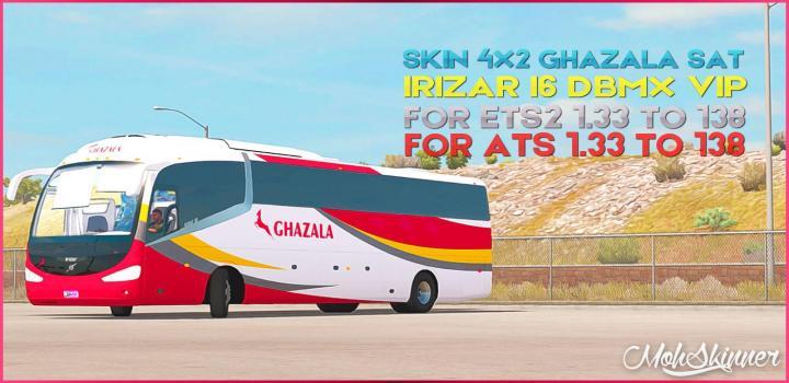 Photo of ETS2 – Irizar I6 – Ghazala Sat Skin V0.2 (1.38.x)