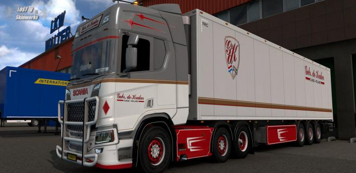 Photo of ETS2 – L. De Kraker Transport V.o.f Skins V1 (1.38.x)