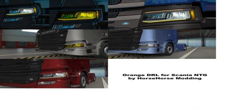 Photo of ETS2 – Orange Drl For Scania Next Gen (1.39.x)