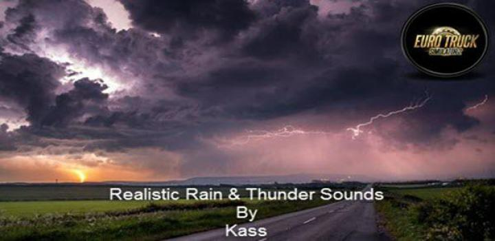 Photo of ETS2 – Realistic Rain & Thunder Sounds V3.6 (1.38.x)