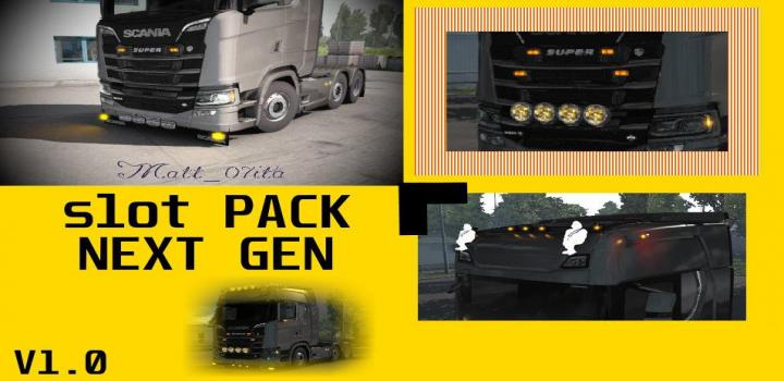 Photo of ETS2 – Scania Next Gen Slot Pack V1 (1.38.x)