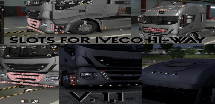 Photo of ETS2 – Slots For Iveco Hi-Way V1.1 (1.39.x)
