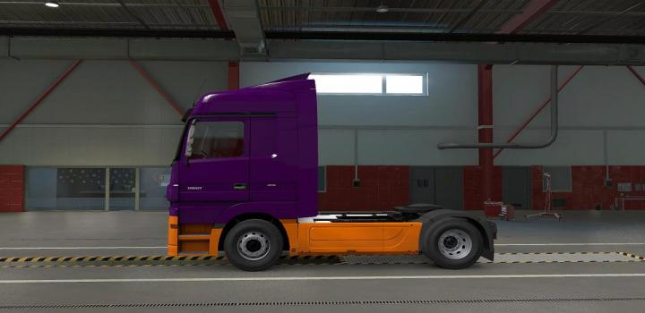 Photo of ETS2 – Two Tone Paint For Mercedes Benz Actros 2009 (1.38.x)