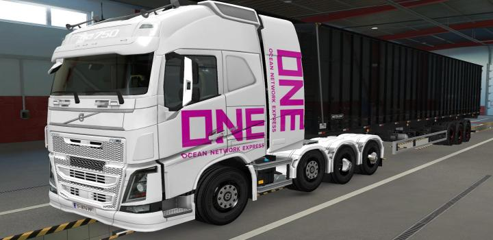 Photo of ETS2 – Volvo Fh16 2012 8X4 One White Skin (1.39.x)