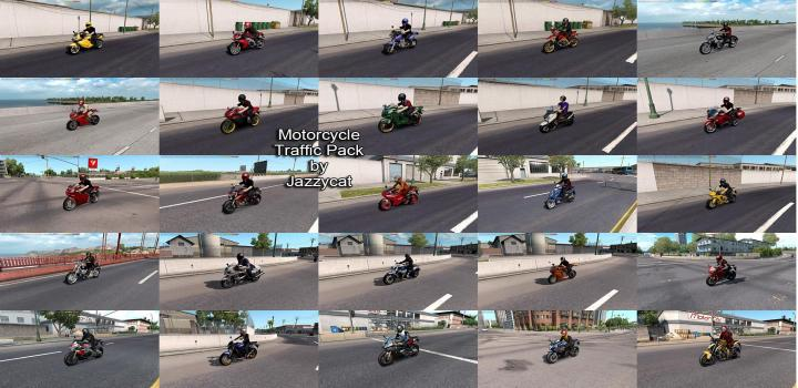 Photo of ATS – Motorcycle Traffic Pack V3.8.4 (1.39.x)