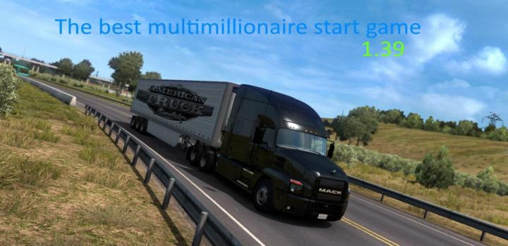 Photo of ATS – The Best Multimillionaire Start Savegame V1 (1.39.x)