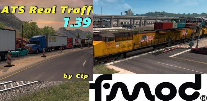 Photo of ATS – The Real Traffic Density By Cip Addon For Improved Trains V3.6.4 (1.39.x)
