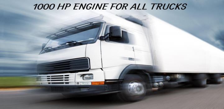 Photo of ETS2 – 1000 Hp Engine For All Trucks V2 (1.39.x)