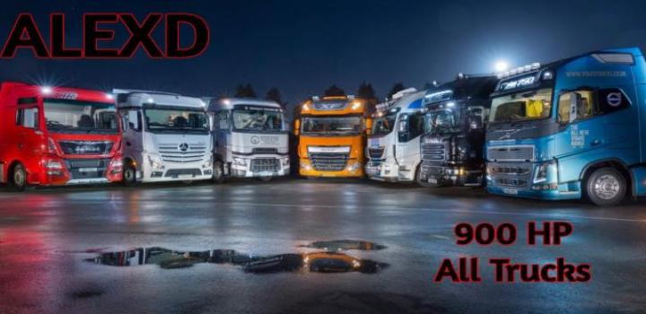 Photo of ETS2 – 900 Hp Engines For All Trucks V1.8 (1.39.x)