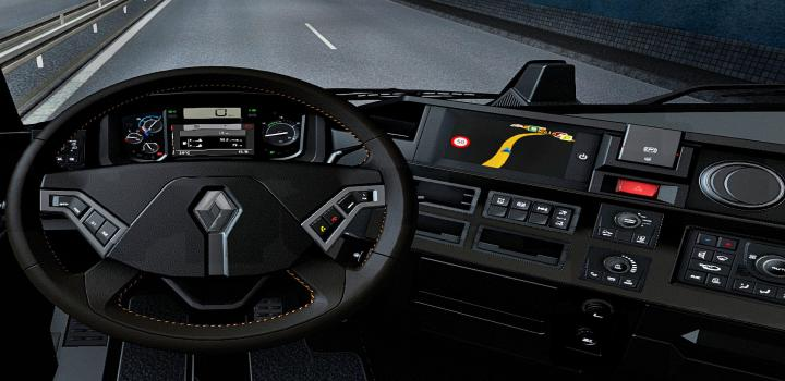 Photo of ETS2 – Dark Interior For Renault Range T V1.1 (1.39.x)
