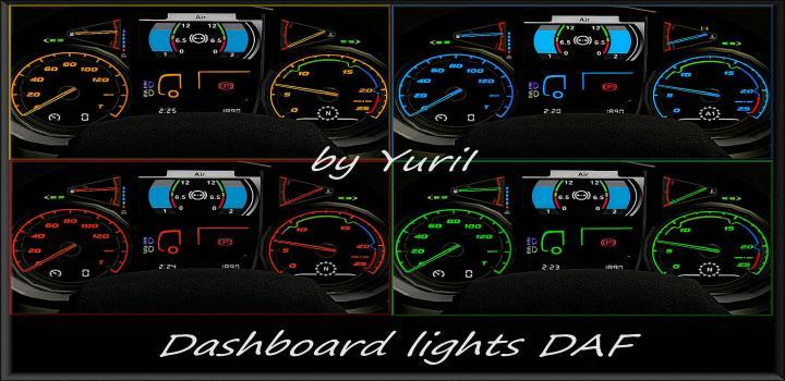 Photo of ETS2 – Dashboard Lights Daf V1.1 (1.39.x)