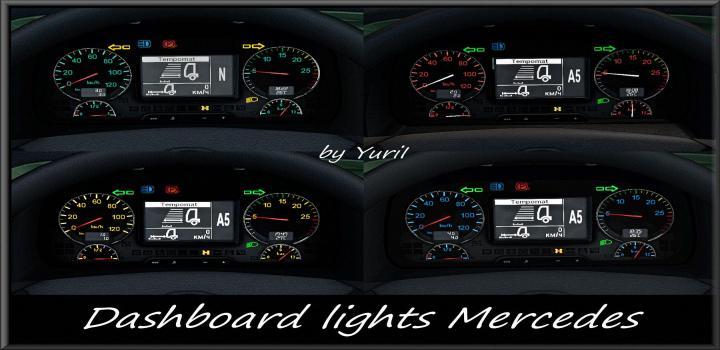 Photo of ETS2 – Dashboard Lights Mercedes V1.1 (1.39.x)