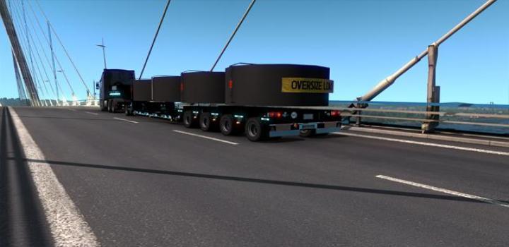 Photo of ETS2 – Goldhofer Black Trailer V1 (1.39.x)