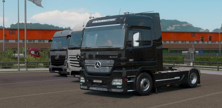 Photo of ETS2 – Mercedes-Benz Actros Mp2 Black Edition By Dotec Fixed V1.1 (1.39.x)