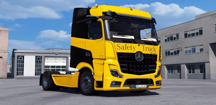 Photo of ETS2 – Mercedes Benz New Actros 2019 By Actros 5 Crew V1.5 Fixed (1.39.x)