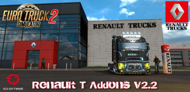 Photo of ETS2 – Renault T Addons V2.2 (1.39.x)
