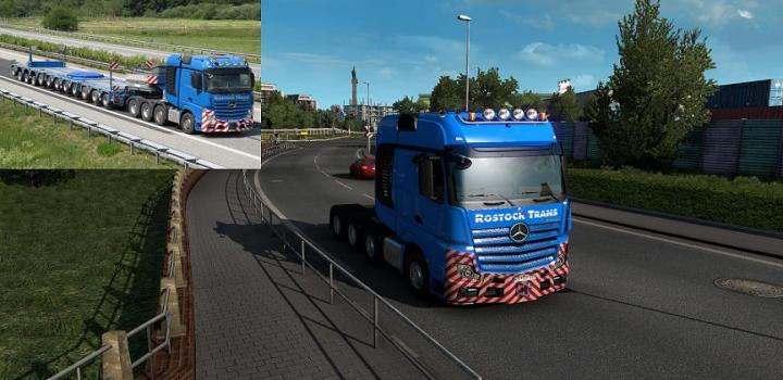 Photo of ETS2 – Rostock Trans Skin For Mercedes Benz Actros 2014 (1.39.x)