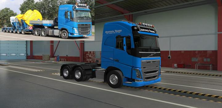 Photo of ETS2 – Rostock Trans Skin For Volvo Fh16 2012 (1.39.x)
