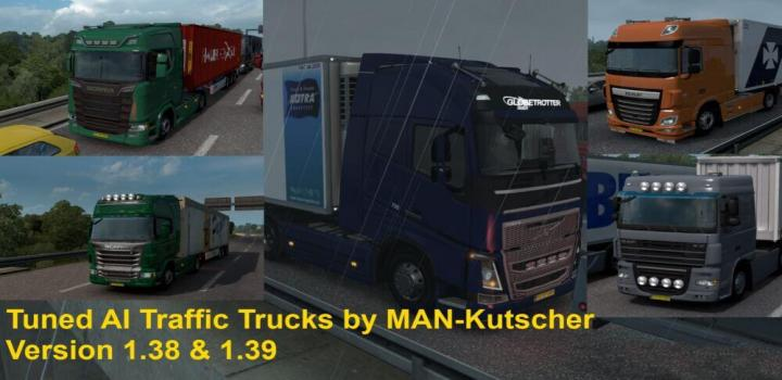 Photo of ETS2 – Tuned Trucks In Ai Traffic V1.1 (1.39.x)