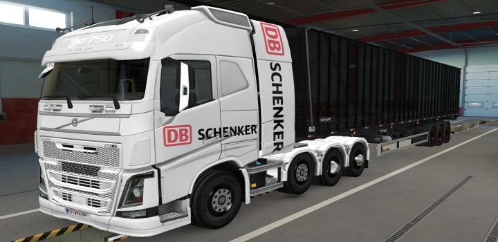 Photo of ETS2 – Volvo Fh16 2012 8×4 Db Schenker Skin (1.39.x)