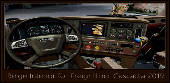 Photo of ATS – Beige Interior for Freightliner Cascadia 2019 V0.9 (1.39.x)