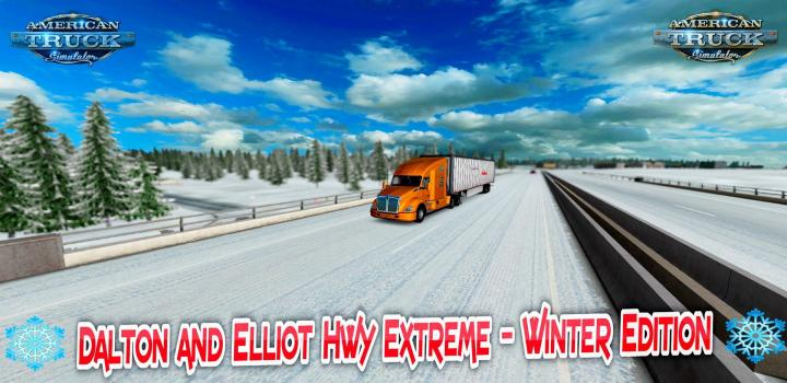 Photo of ATS – Winter Map Fix for Dalton And Elliot Hwy Extreme (1.39.x)