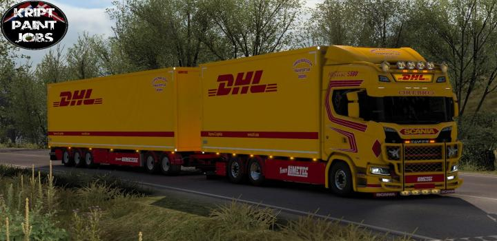 Photo of ETS2 – Dhl Tandem Scania S580 J. Karlsson V1.0 (1.39.x)