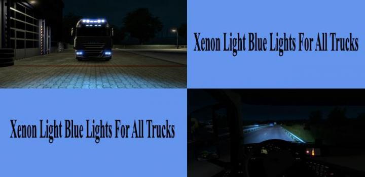 Photo of ETS2 – Light Blue Xenon Lights for All Trucks V1.0 (1.39.x)
