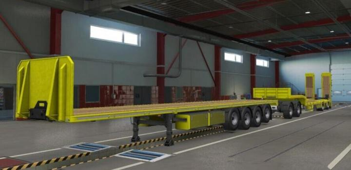 Photo of ETS2 – Lowbed And Lowloader Functional Load Works Mp-Sp V1.0 (1.39.x)