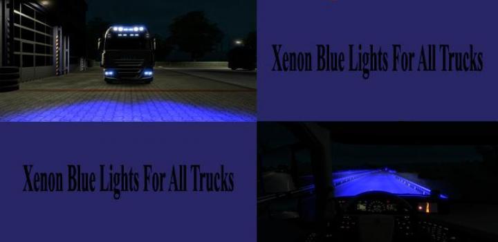 Photo of ETS2 – Marine Blue Xenon Lights for All Trucks V1.0 (1.39.x)