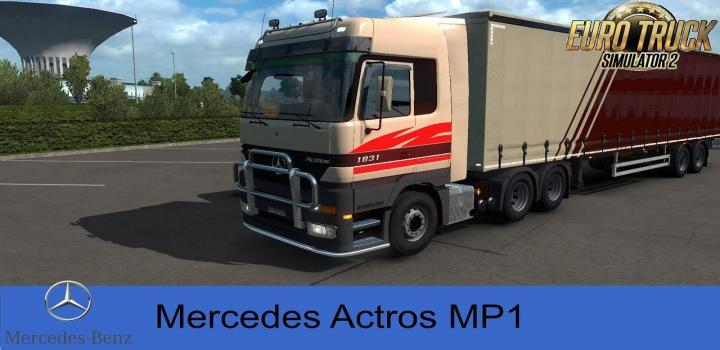 Photo of ETS2 – Mercedes Actros Mp1 Truck V1.2.2 (1.39.x)