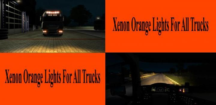 Photo of ETS2 – Orange Xenon Lights for All Trucks V1.0 (1.39.x)