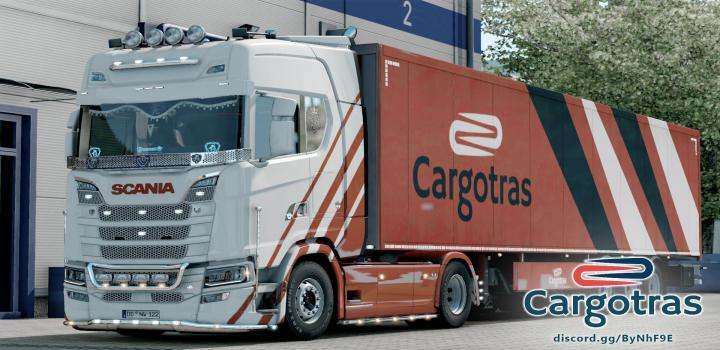 Photo of ETS2 – Scania S Vtc Cargotras Truckers Mp (1.39.x)