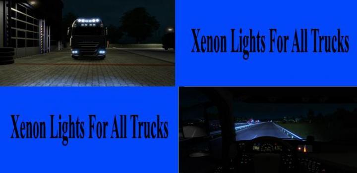 Photo of ETS2 – Standard Xenon Lights for All Trucks V1.0 (1.39.x)