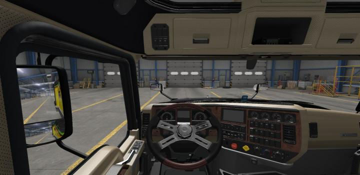 Photo of Black Beige Leather Interior for Mack Anthen ATS 1.39
