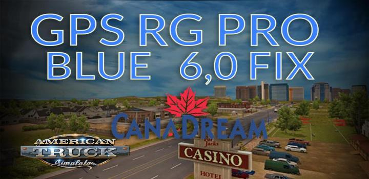 Photo of Gps Rg Pro Blue Fix Canadream V6.0 ATS 1.39