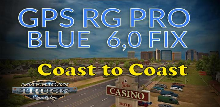 Photo of Gps Rg Pro Blue Fix Coast To Coast V6.0 ATS 1.39