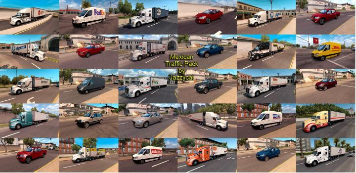 Photo of ATS – Mexican Traffic Pack V2.3 (1.39.x)