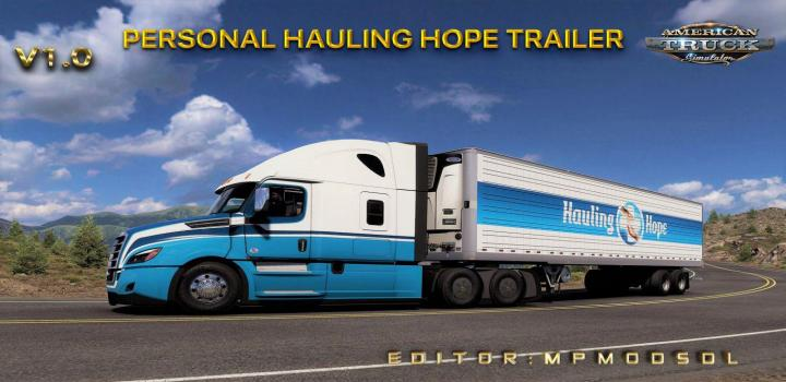 Photo of Personal Hauling Hope Trailer Mod V1 ATS 1.39
